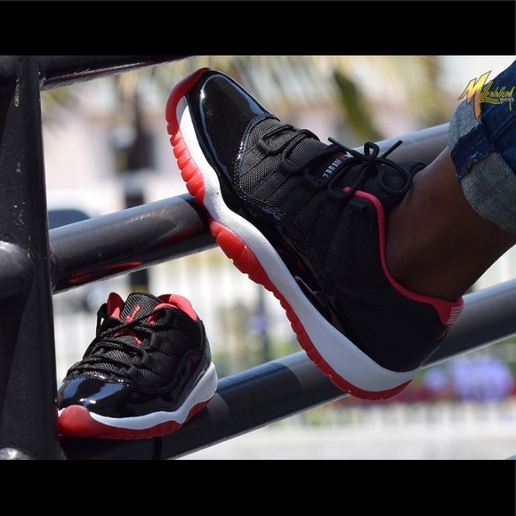 ccb6cd729e2e0f Nike Jordan Retro 11 Bred Low